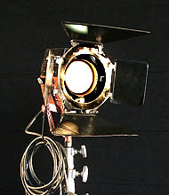 Used Mole Richardson 1K Baby Baby Tungsten Fresnel Lights for Sale, Used Tungsten Lights for sale - click here